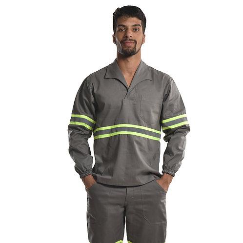 Camisa Profissional Fechado C/Elástico Nos Punhos e Faixa Refletiva