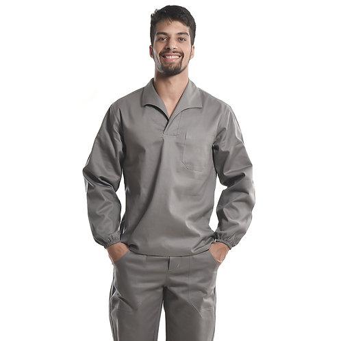 Camisa Profissional Mangas Longas Gola Italiana C/Elástico Nos Punhos