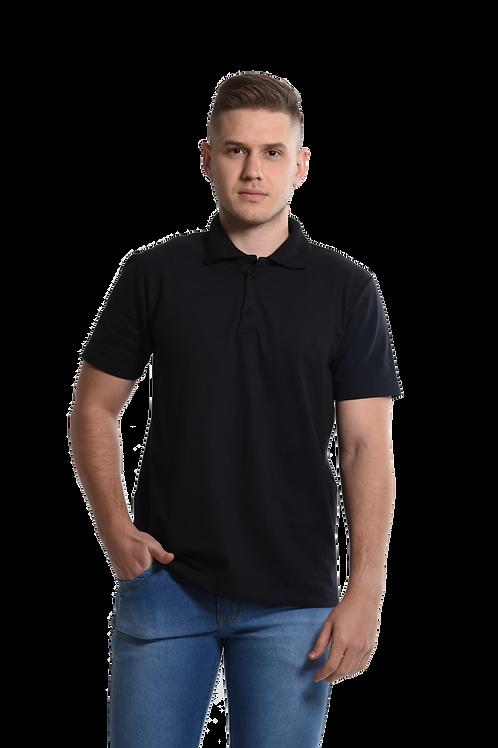 Camiseta Polo na Cor Preta