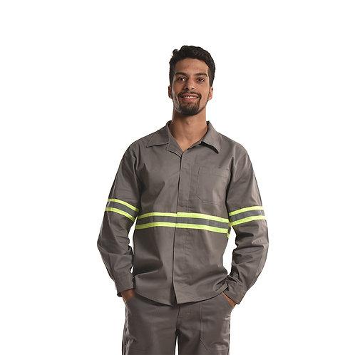 Camisa Profissional Modelo Aberto com Botões Embutidos