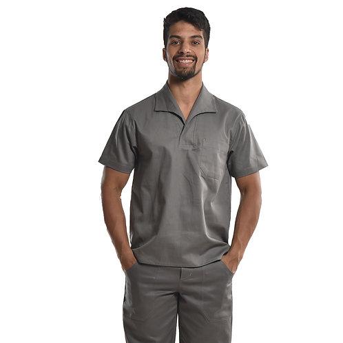 Camisa Profissional Mangas Curtas Com Gola Italiana