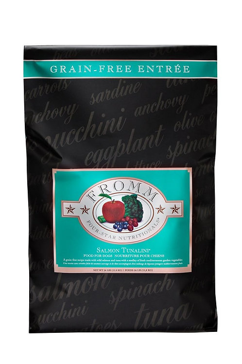 FROMM FOUR STAR GRAIN FREE SALMON TUNALINI DRY DOG FOOD