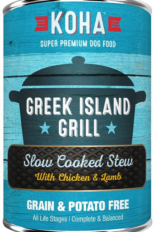 KOHA GRAIN & POTATO FREE GREEK ISLAND GRILL SLOW COOKED STEW WITH CHICKEN & LAMB