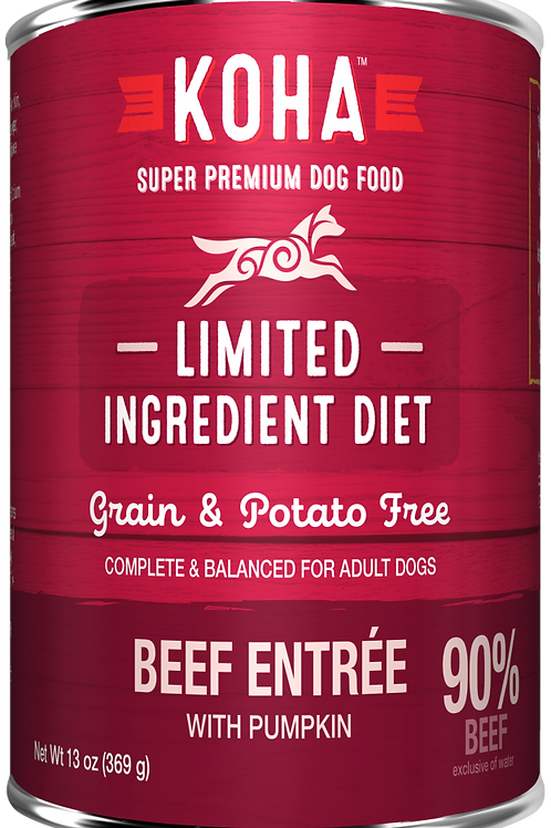 KOHA GRAIN & POTATO FREE LIMITED INGREDIENT DIET BEEF ENTREE WITH PUMPKIN CANNED