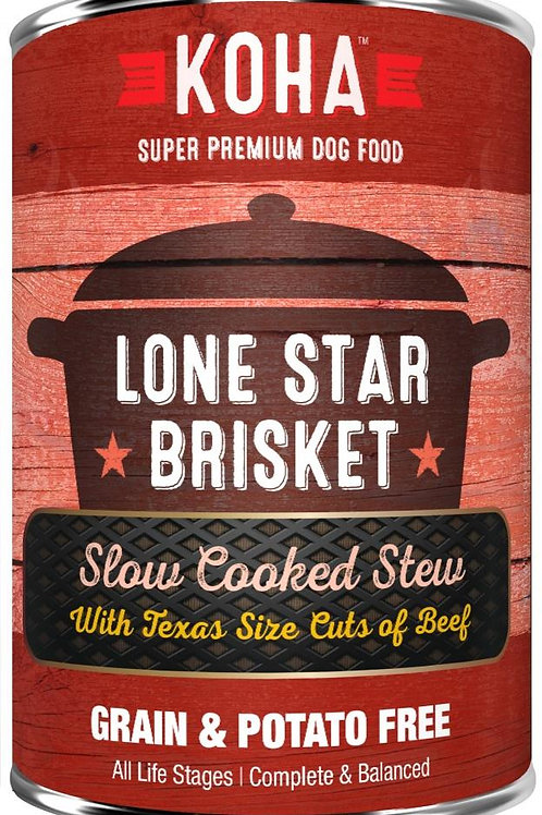 KOHA GRAIN & POTATO FREE LONE STAR BRISKET SLOW COOKED STEW WITH BEEF CANNED DOG