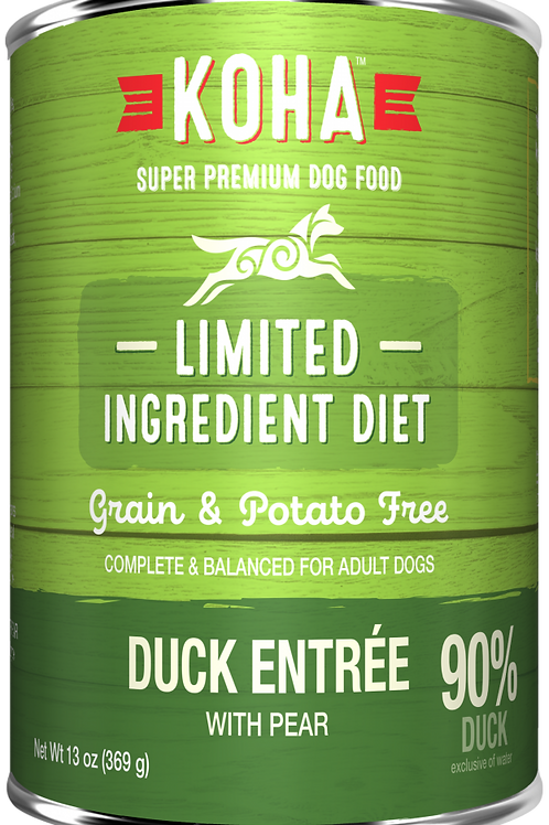 KOHA GRAIN & POTATO FREE LIMITED INGREDIENT DIET DUCK ENTREE WITH PEAR CANNED DO