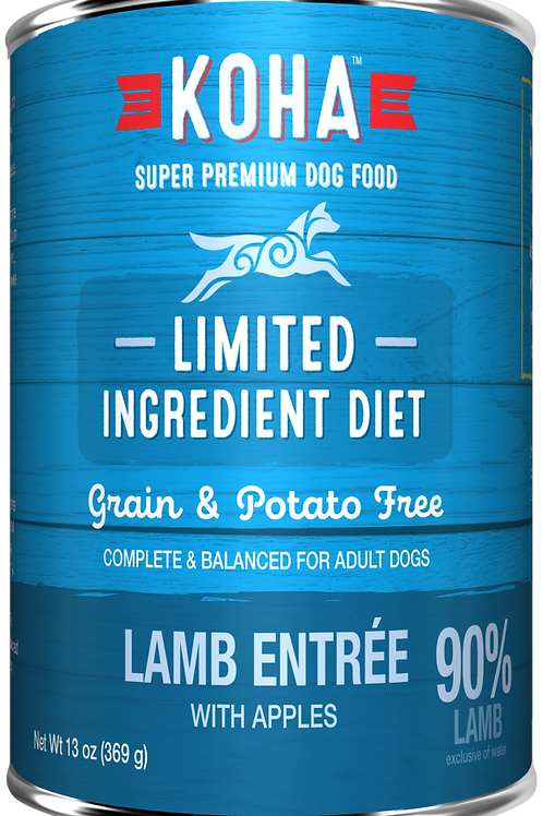 KOHA GRAIN & POTATO FREE LIMITED INGREDIENT DIET LAMB ENTREE WITH APPLES CANNED