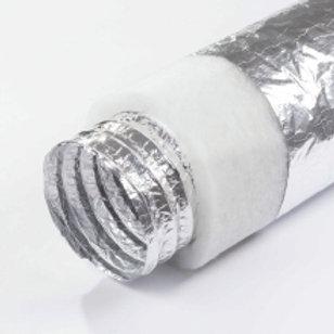Alu Thermal Optima-White Polyester izoleli alüminyum esnek hava kanalları.