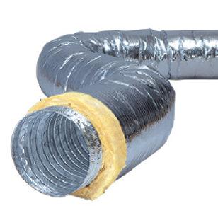 Alu Thermal Basic Düşük emisyonlu mineral yün izoleli alüminyum esnek hava kanal