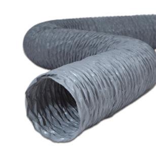 PVC İzolesiz takviyeli PVC esnek hava kanalları.