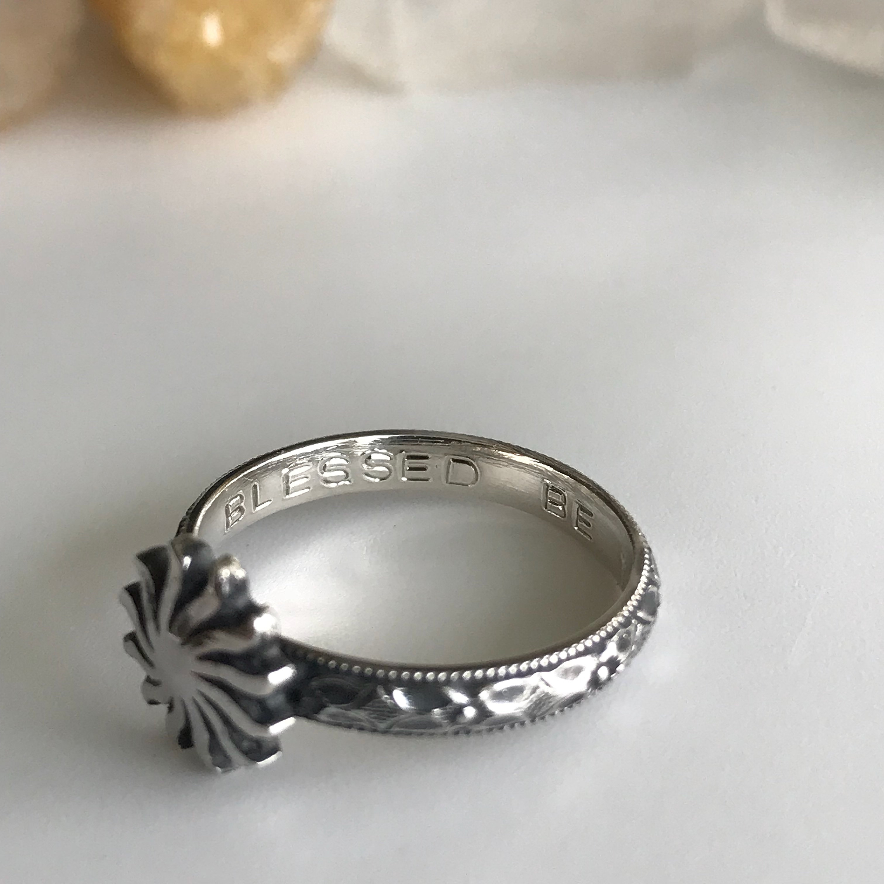 Celestial Stacker Ring Set Star, Sun and Crescent Moon with Blessing ...