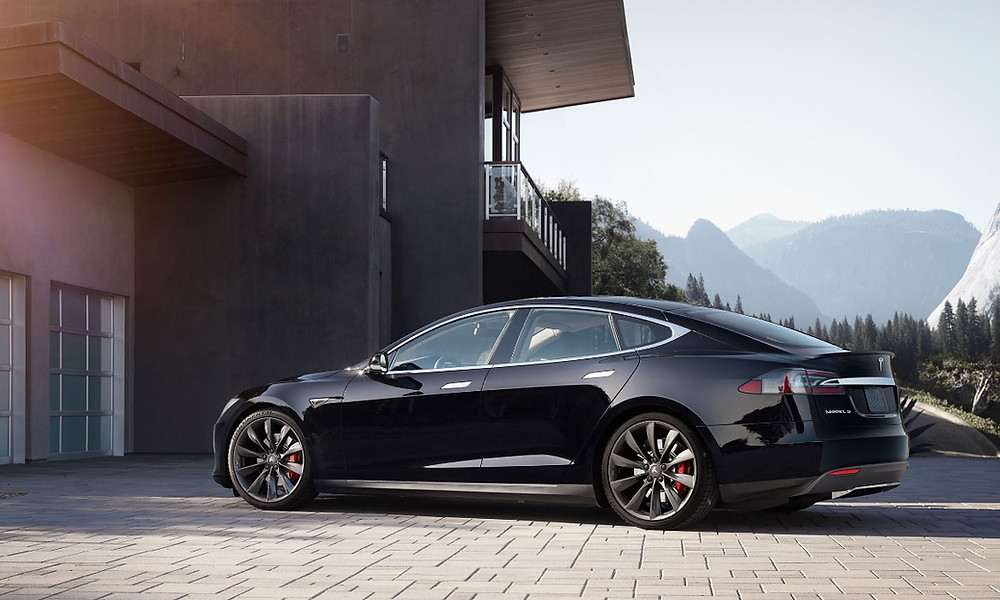 A photo illustration of the Tesla Model S.