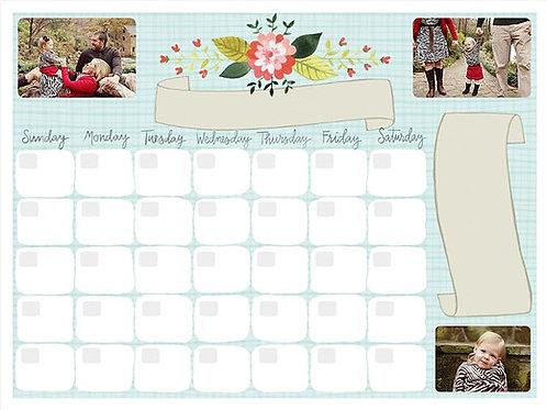 Dry Erase Photo Calendar