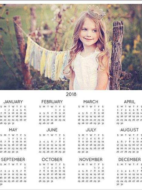 Traditional Photo Calendar