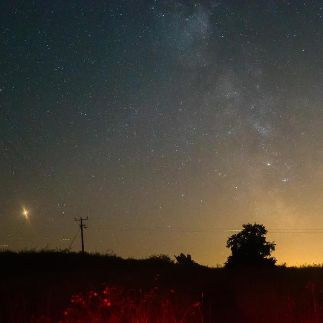 Milky Way and Mars