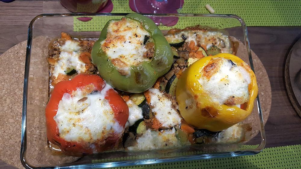 Ernährungsberatung, Ernährungstherapie und Fitnessberatung in Lyss, Fabienne Kobi, gefüllte Peperoni
