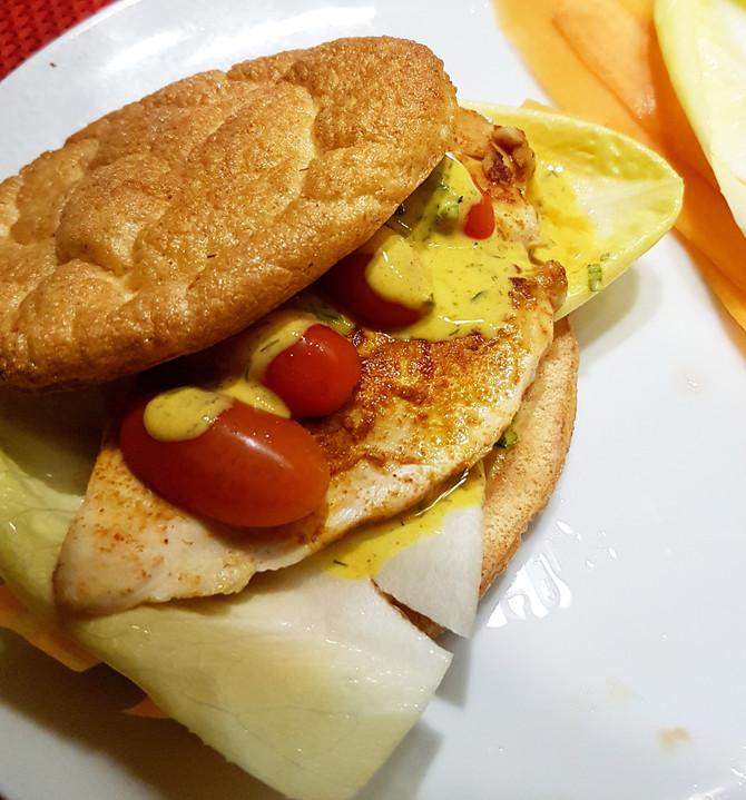 it's burgertime: healthy egg-chicken-burger