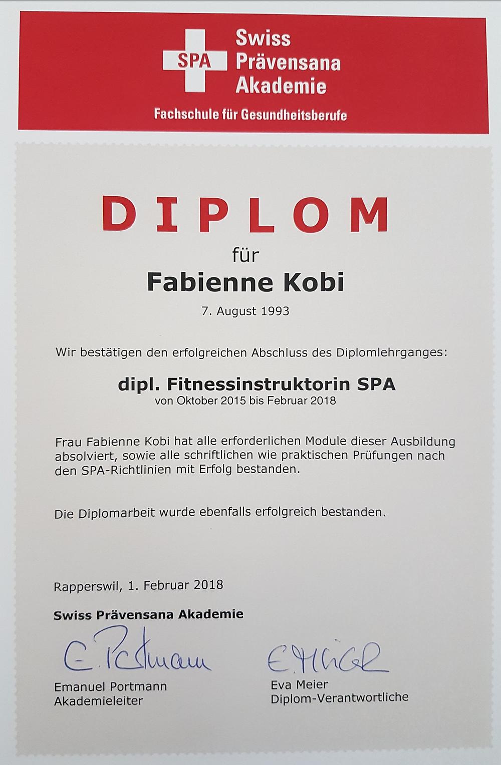 Ernährungsberatung, Ernährungstherapie und FItnessberatung in  Lyss, Fabienne Kobi, Diplom, dipl. Fitnessinstruktorin SPA