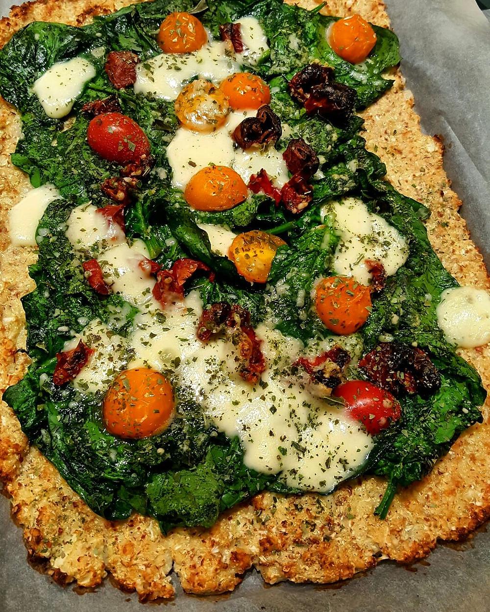 Ernährungsberatung, Ernährungstherapie und Fitnessberatung in Lyss, Fabienne Kobi, Low-Carb-Gemüsepizza