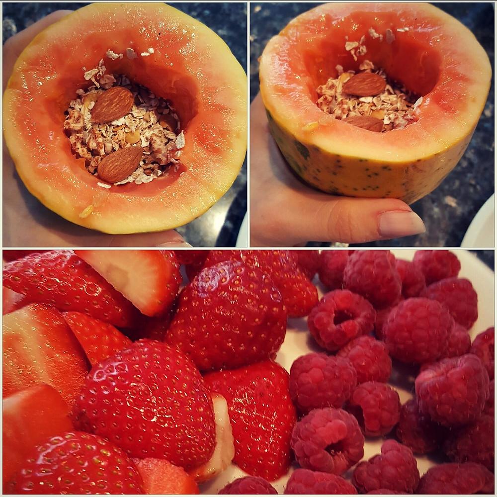 Ernährungsberatung, Ernährungstherapie und Fitnessberatung in Lyss, Fabienne Kobi, Papaya-Breakfastbowl