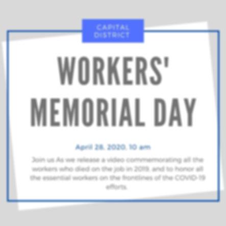 Workers Memorial Day 2020