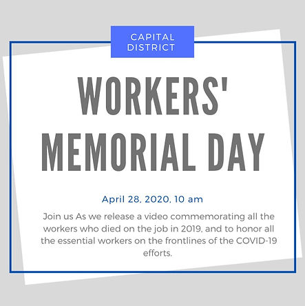 Workers Memorial Day 2020