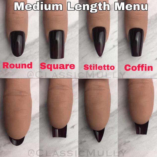 Medium Length Menu