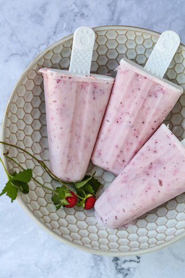 Wild Strawberry Ice Pops