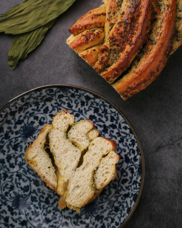Ramp and Garlic Mustard Bread