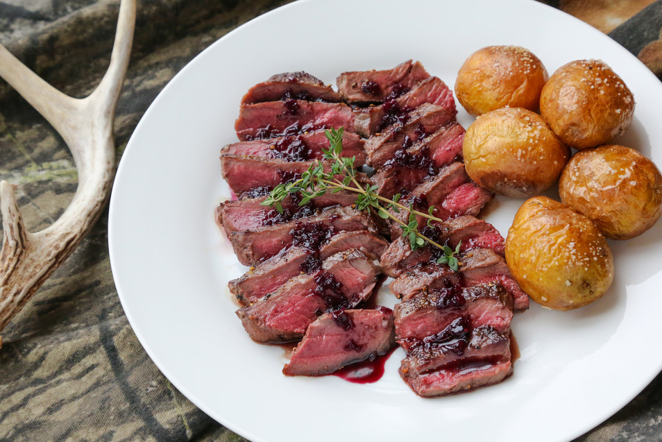 Venison with Elderberry Sauce