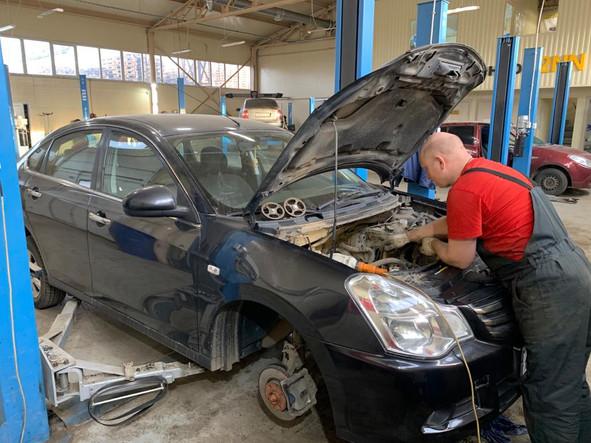 Замена ГРМ Nissan Almera 1.6