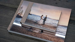 16x12 Acrylic Glass wedding book and parent copy
