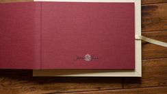 16x12 linen inside cover