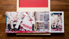 16x12 wedding book open flat