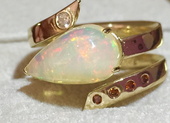 Opal and Diamond Ring