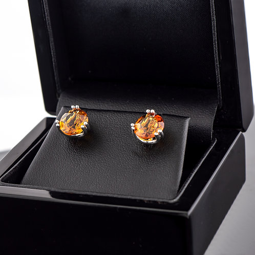 14k White gold Golden Citrine earrings