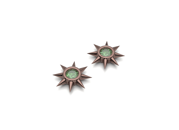 Star Studs - Emeralds