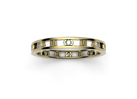 Signature Band with Diamonds