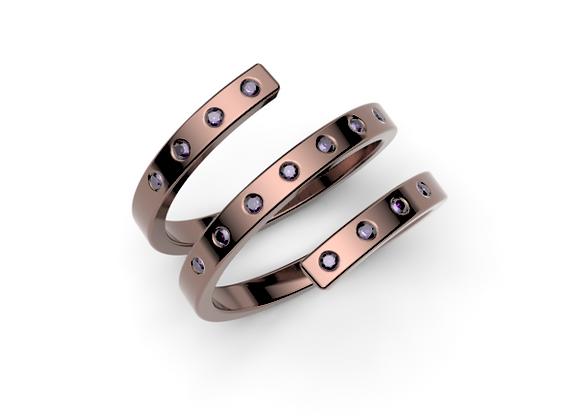 Coil Ring – Amethyst