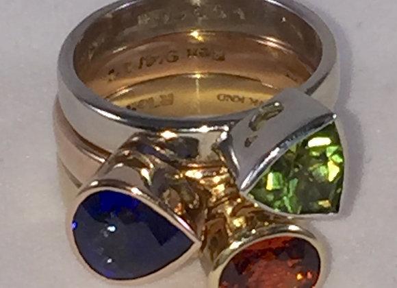 Custom Multi Stone Bezel Ring