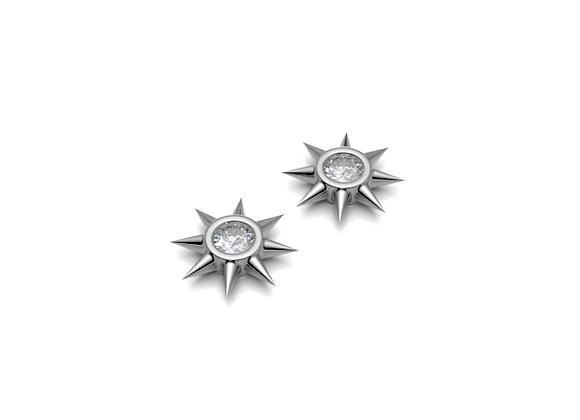 Star Studs - White Diamonds