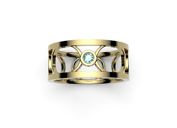 The Chelsea Ring – Teal Sapphire