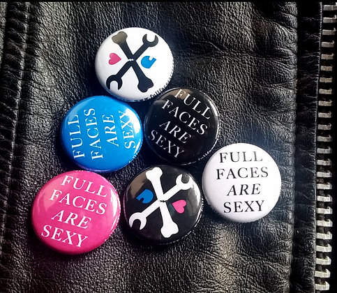 "fullfacesaresexy 1"" buttons"