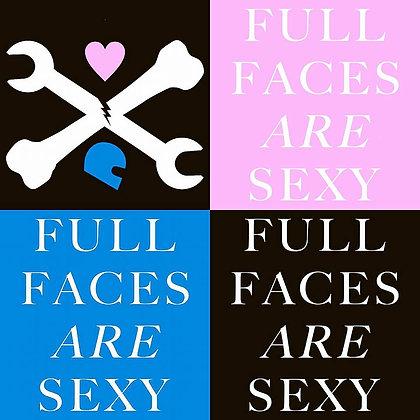 "4""x4"" FULLFACESARESEXY vinyl stickers"