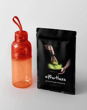 effortless genmaicha (150g) + workout bottle