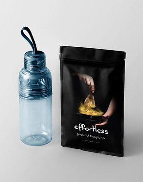 effortless houjicha (150g) + workout bottle