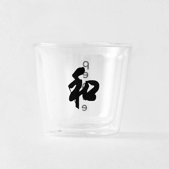 Peace hot tea glass