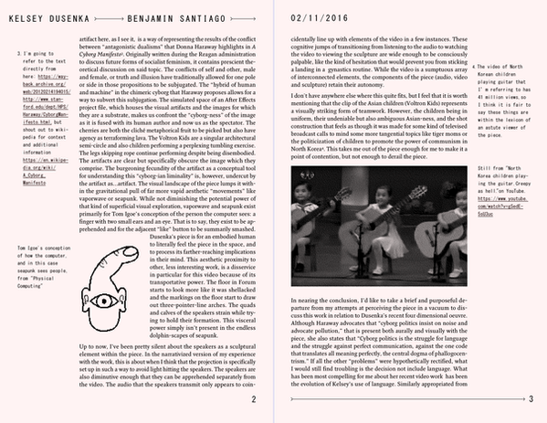 Cranbrook Reviews | Kelsey Dusenka | pg. 2 + 3