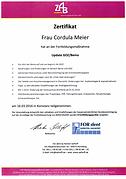 Zertifikat Fortbildung Update GOZ/Bema