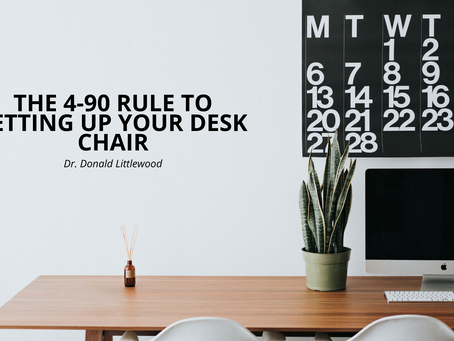 The 4-90 Rule for setting up your desk chair